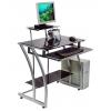 стол компьютерный Бюрократ GD-010/Black черный закаленное стекло