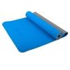 Коврик для йоги Starfit FM-201 (173x61x0,4 см), серо-синий, купить за 1 220руб.