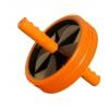 Тренажер Ролик для пресса (2-колесный) большой, оранжево-черный, купить за 625руб.
