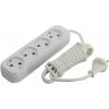 Удлинитель электрический Smartbuy SBE-10-4-03-N 3м (4 розетки), белый, купить за 225руб.