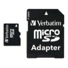 Verbatim 44081 microSDHC Class 10 8GB (с адаптером), купить за 730руб.