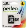 Карта памяти Perfeo microSDHC Class 10 4GB (с адаптером), купить за 370руб.