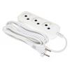 Удлинитель электрический Сетевой Buro BU-PSL3.3/W 3м (3 розетки, пакет ПЭ), белый, купить за 295руб.