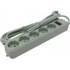 Сетевой фильтр ExeGate SP-5-5G, серый, купить за 390руб.