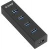 Orico H4013-U3-BK 4-Port USB 3.0, черный, купить за 1 430руб.