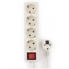 Удлинитель электрический Гарнизон ELB-G4-W-5, белый, купить за 690руб.