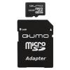 Карта памяти Qumo microSDHC class 6 16GB (с адаптером), купить за 695руб.