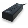 USB концентратор CBR CH-157 (4 порта), черный, купить за 670руб.