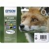 Картридж для принтера Epson T1285 (4 цвета), черный, голубой, пурпурный, желтый, купить за 3320руб.