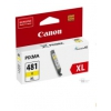 Картридж Canon CLI-481XL Y, желтый, купить за 1 130руб.