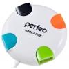 USB концентратор Perfeo PF-VI-H020, белый, купить за 385руб.