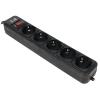 Сетевой фильтр 3Cott 3C-SP1005B-5.0, черный, купить за 420руб.