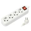 Удлинитель электрический Smartbuy SBE-16-4-03-ZS белый, купить за 425руб.
