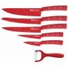 Набор ножей Kelli KL-2133 (в деревянном кейсе, 6 шт.), красные, купить за 620руб.