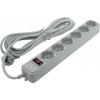 Сетевой фильтр ExeGate SP-6-5G, серый, купить за 335руб.