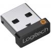Адаптер Logitech USB Unifying Receiver, черный, купить за 995руб.