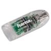 Устройство для чтения карт памяти Картридер Hama 00091092 прозрачный, купить за 910руб.