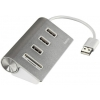 USB концентратор Hama Kombi 54142, серебристый, купить за 1 025руб.