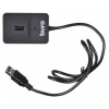 Устройство для чтения карт памяти Buro BU-CR/HUB3-U2.0-0688, черное, купить за 920руб.