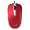 Мышка Genius DX-120 USB, красная, купить за 410руб.