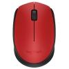 Logitech M171, беспроводная, USB, красная, купить за 900руб.
