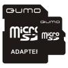 Qumo MicroSD 2Gb + SD adapter, Черная, купить за 620руб.