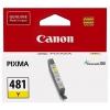 Картридж Canon CLI-481 Y, желтый, купить за 830руб.