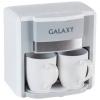 Кофеварка Galaxy GL 0708, белая, купить за 1 420руб.