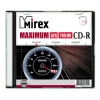 Оптический диск Mirex CD-R 700 Mb, Maximum, Slim Case (1 шт), купить за 220 руб.