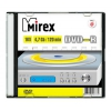 Оптический диск Mirex DVD-R 4.7 Gb, UL130003A1S, Slim Case (1 шт), купить за 220 руб.