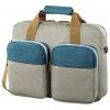Сумка для ноутбука Hama Florence II Notebook Bag 15.6, серая с зеленым, купить за 1 900руб.