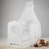 Детская кроватка Островок уюта Карета (маятник поперечный), белая, купить за 8 659руб.