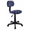 Компьютерное кресло Бюрократ CH-201NX/Star-bl, синее/звезды, купить за 2 290руб.