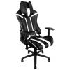 Игровое компьютерное кресло Aerocool AC120 AIR-BW, черно-белое, купить за 15 300руб.