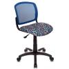 Компьютерное кресло Бюрократ CH-296, карандаши-синее, купить за 2 490руб.