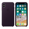 Чехол для смартфона Apple iPhone X Leather Case (MQTG2ZM/A), Dark Aubergine, купить за 3 330руб.