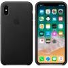 Чехол для смартфона Apple iPhone X Leather Case (MQTD2ZM/A), черный, купить за 3320руб.