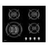 Варочная поверхность Hansa BHGI63112035 черная, купить за 16 020руб.