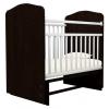 Детская кроватка Агат Золушка-10, шоколад/белая, купить за 2 640руб.