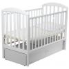 Детская кроватка Papaloni Джованни (маятник), белая, купить за 13 360руб.
