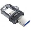 Usb-флешка SanDisk Ultra Dual Drive m3.0 32Gb (SDDD3-032G-G46), черная, купить за 980руб.