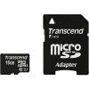 Transcend MicroSDHC 16Gb class10 + SD адаптер, купить за 620руб.