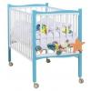 Детская кроватка Papaloni Fiore (колесо) Морская бирюза/белая, купить за 9 320руб.
