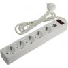 Сетевой фильтр Smartbuy (SBSP-18U-W) белый, купить за 810руб.