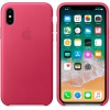 Чехол для смартфона Apple iPhone X Leather Case (MQTJ2ZM/A), Pink Fuchsia, купить за 3 620руб.