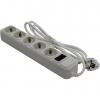 Сетевой фильтр ExeGate SP-5-1.5W белый, купить за 320руб.