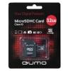 Qumo microSDHC 32Gb class 10 + SD-адаптер (QM32MICSDHC10), купить за 1 095руб.