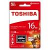 Toshiba THN-M301R0160EA (16Gb, microSDHC, UHS-I, SD-адаптер), купить за 955руб.