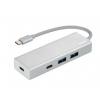 Usb-концентратор HAMA USB 3.1 Aluminium  (00135755) белый, купить за 1335руб.