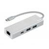 USB концентратор HAMA USB 3.1 Aluminium (00135757) белый, купить за 1 410руб.